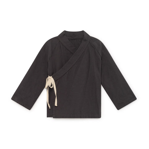 little creative factory - ORIGAMI WRAP JACKET - Slate