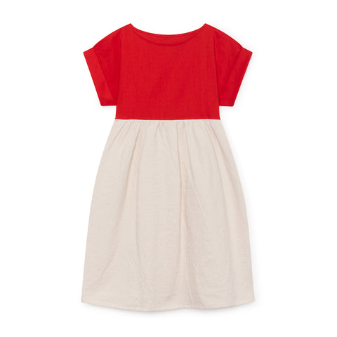 little creative factory - ORIGAMI T-SHIRT DRESS - Scarlet