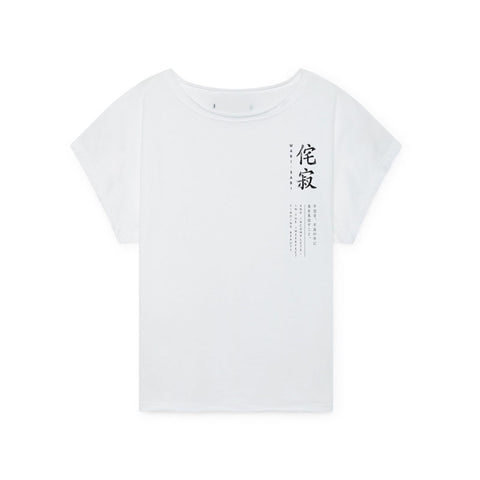 little creative factory - KINARI PRINT T-SHIRT - White