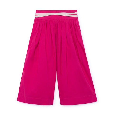 little creative factory - MOMIJI WIDE LEG PANTS - Fuchsia