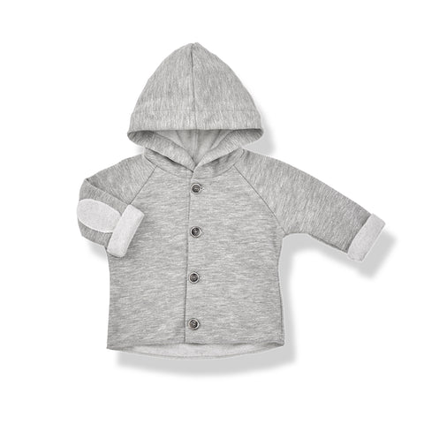 1+in the family ALAN HOOD JACKET - Light grey