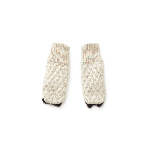 OEUF ANIMAL MITTENS SHEEP - Cream