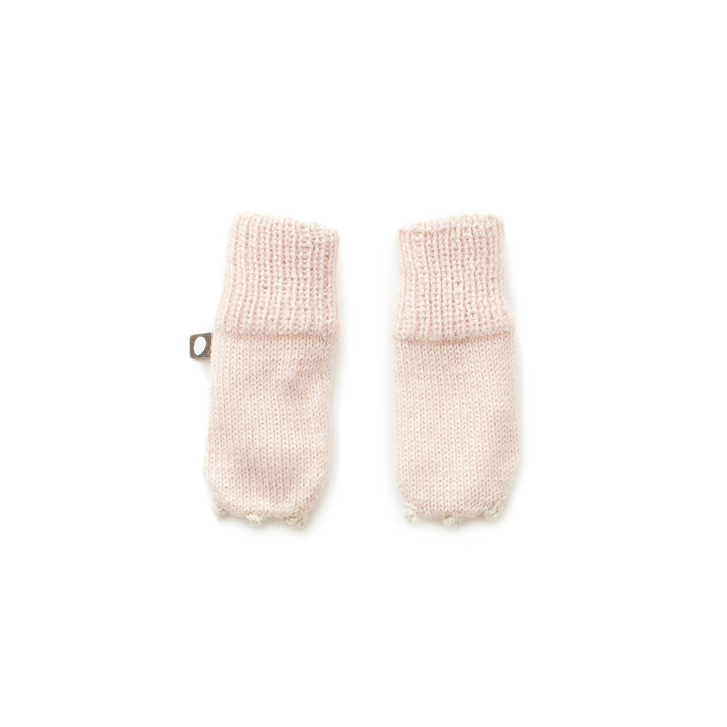 OEUF ANIMAL MITTENS UNICORN - Pale pink