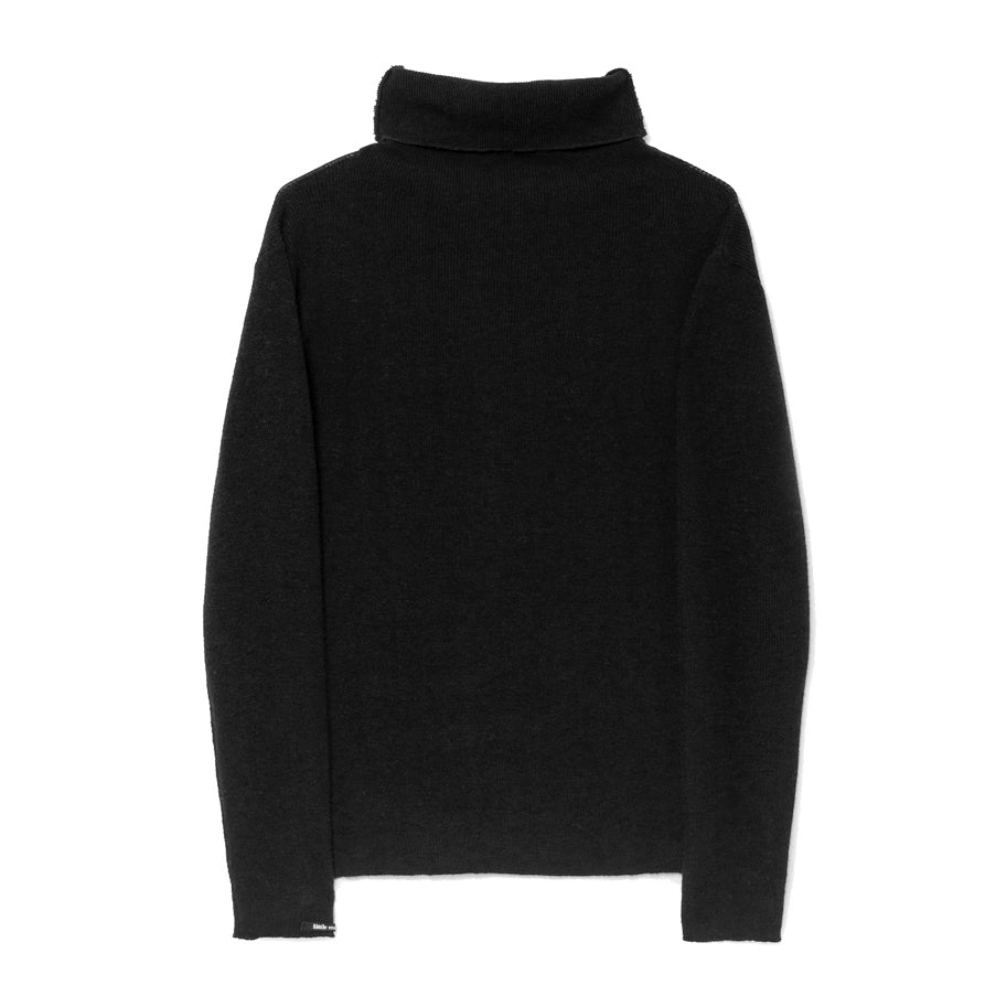 little creative factory - TRICOT HIGH-NECK JERSEY - Black