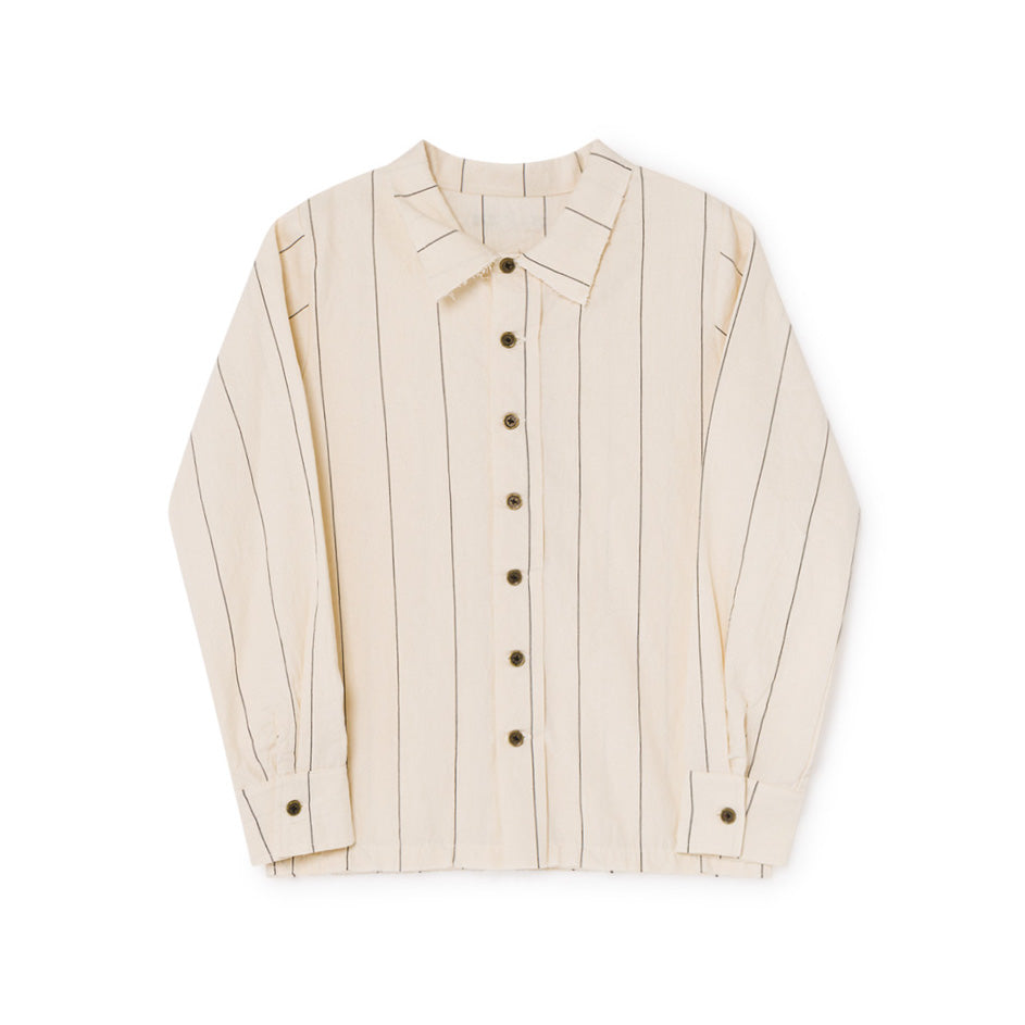 little creative factory - THIN-STRIPE SHIRT - Cream