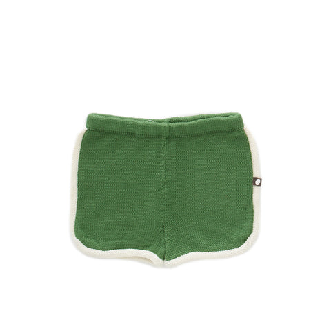 oeuf - 70s SHORTS - Green/White