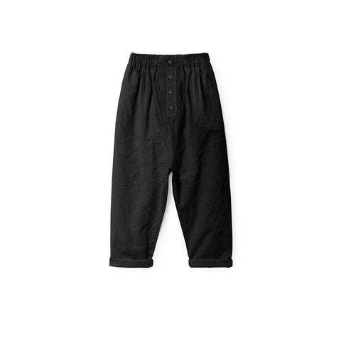 Little Creative Factory - CRINKLED TROUSERS - Black
