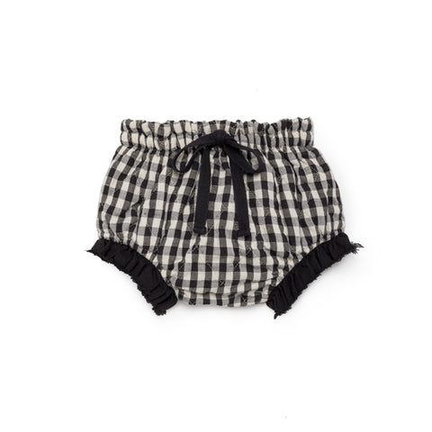 Little Creative Factory - BABY CHECKED QUILTED CULOTTES - Black/White