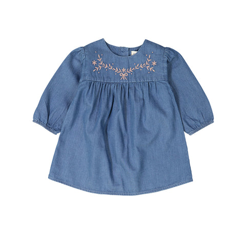 louis louise - DRESS MAE - Chambray