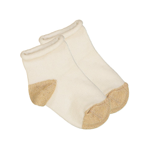 louis louise - SOCKS JANET - Cream/Lurex