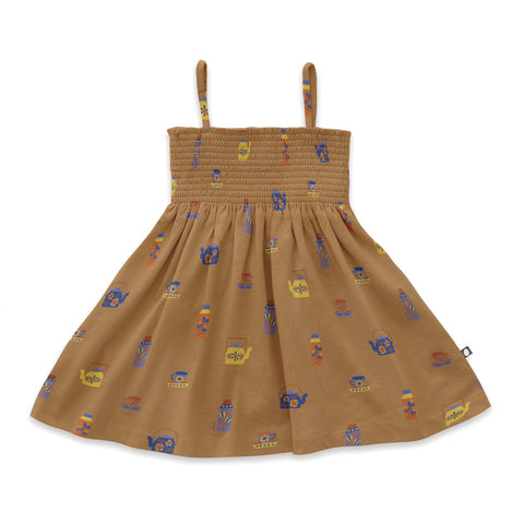 oeuf - ORGANIC SMOCKED DRESS - DOE