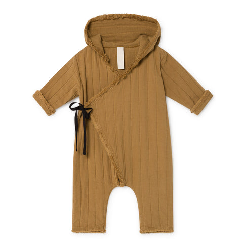 Little Creative Factory - BABY QUILTED OVERALL - Camel
