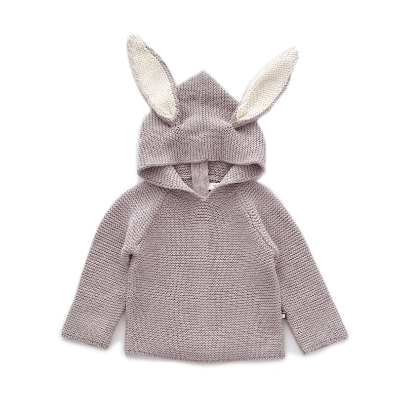 oeuf nyc - BUNNY HOODIE - Light Grey