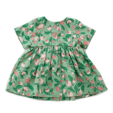 oeuf - SS DRESS - Green/Flower