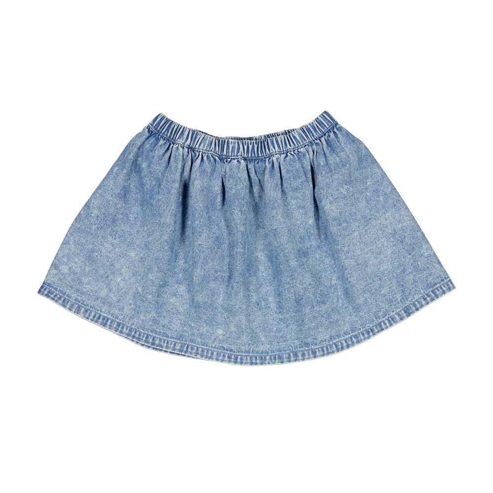 louis louise - SKIRT MINETTE - Chambray Washed