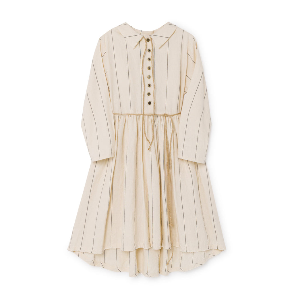 little creative factory - THIN STRIPE DRESS - Cream