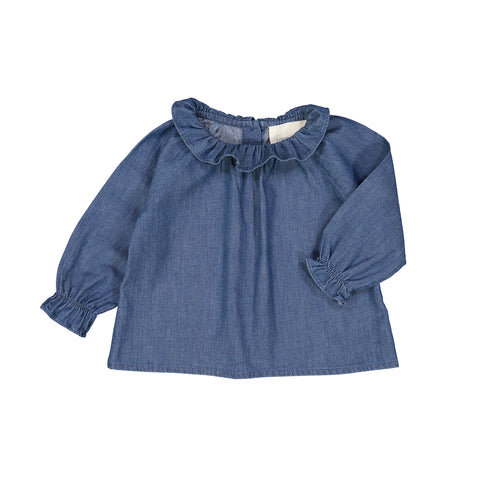 Louis Louise TUNIC LILIE - Blue chambray