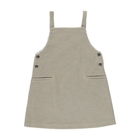 bebe organic - VIKTORIA PINAFORE DRESS - Taupe