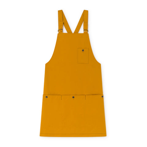 little creative factory - WAX APRON DRESS - Ochre