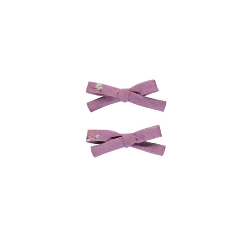 bebe organic - ADELE PIGTAIL SET - Purple Flowers