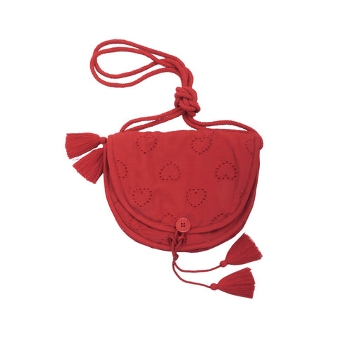 louis louise - BAG BRIGITTE LACE HEART - Red