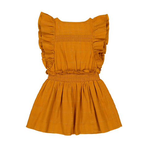 louis louise - DRESS CAMILLE - Caramel