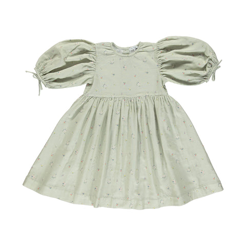 bebe organic - NORA DRESS - Sage Flowers