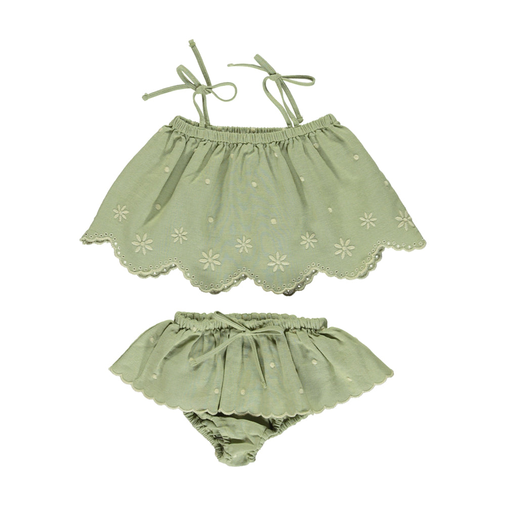 bebe organic - OLIVIA BABY SET - Natural Green