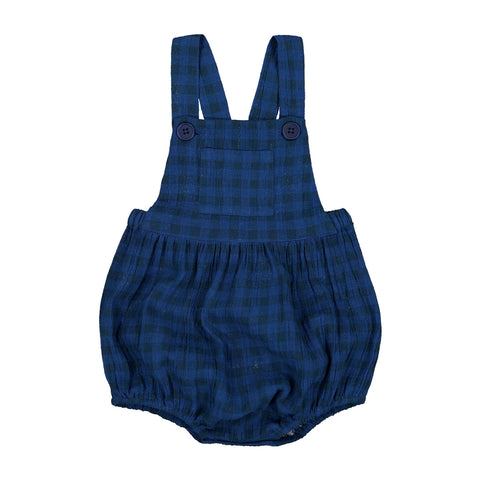 louis louise - OVERALL CAMION CHECK - Bright Navy