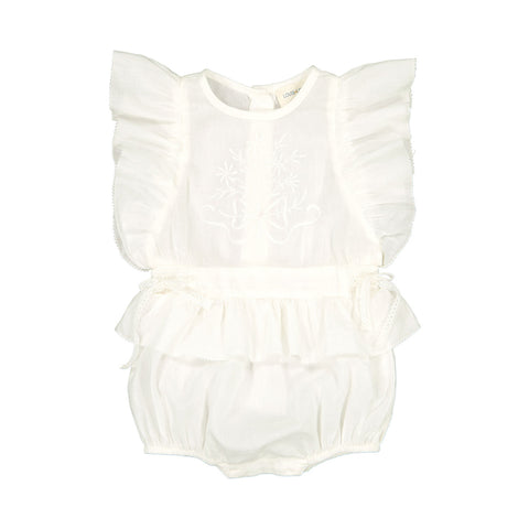 louis louise - OVERALL ANGE COTTON VOILE - Off White