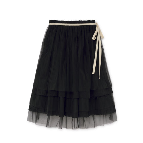 little creative factory - MUSLIN FAIRY LAYERED SKIRT - Black