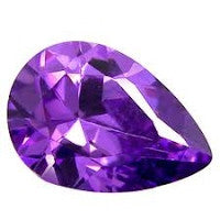 Amethyst Pear Shape: 4 x 3 mm - 15 x 10 mm