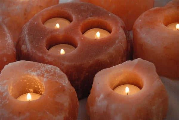 Himalayan Salt Tealite Candle Holder