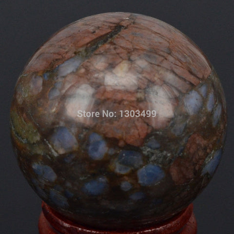 Blue Opal Fossil Ball Sphere