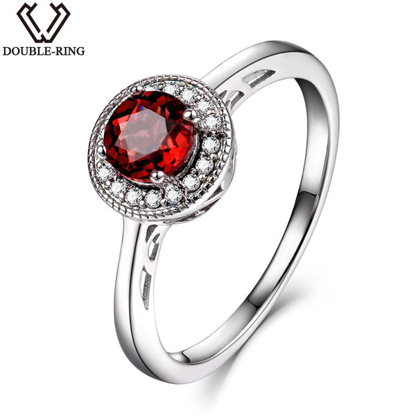 0.65ct Natural Garnet Gemstone Ring.  Sterling