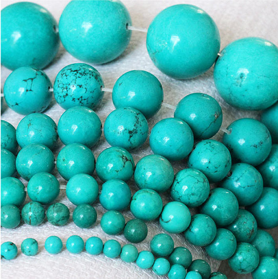 Turquoise Beads Supplies, 4 6 8 10 12 14mm Turquoise