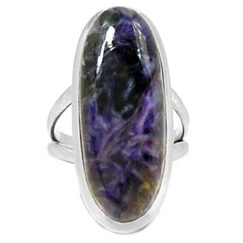 Charoite Ring  925 Sterling Silver,