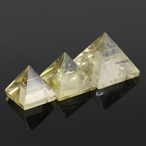 Citrine  Pyramid Stone x 3 sizes available  15/25/50mm