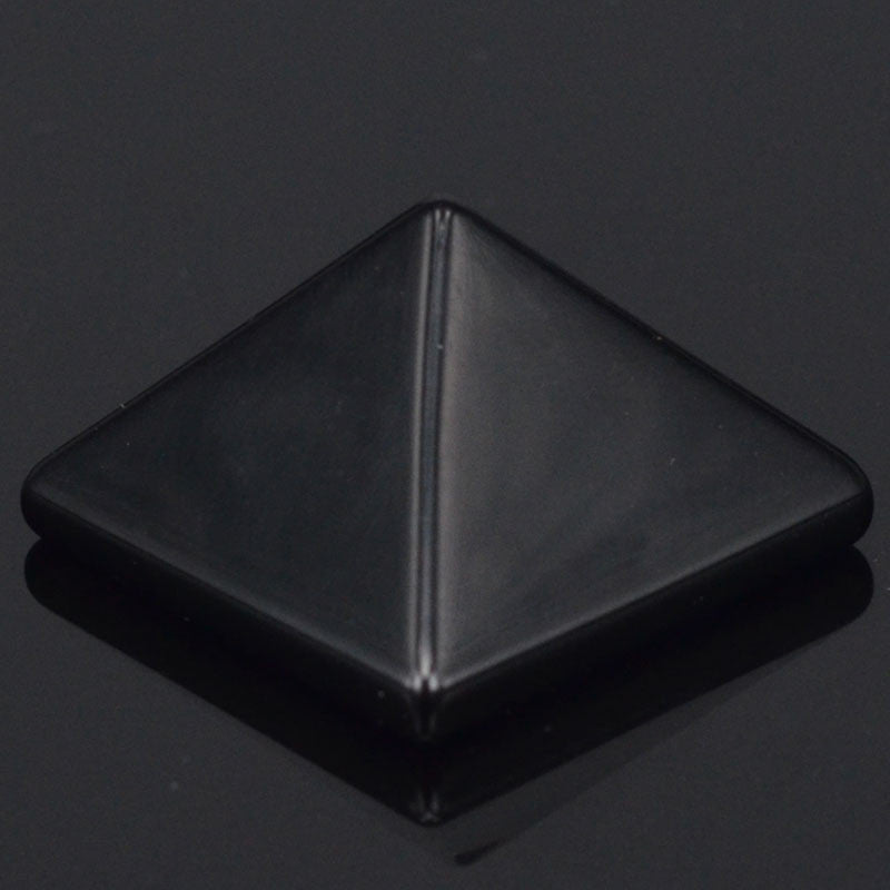 Black Obsidian Pyramid 29x29mm