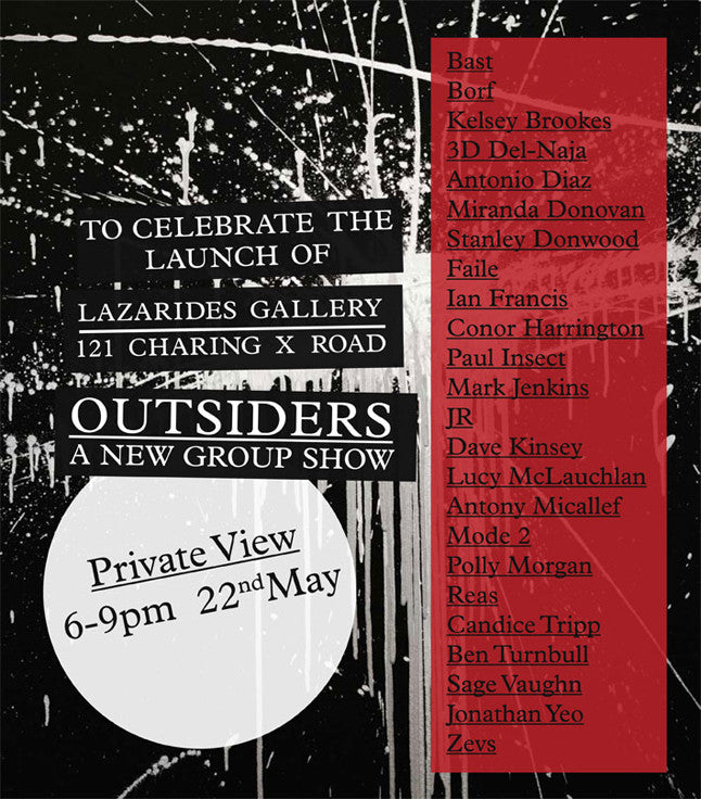 OUTSIDERS AT LAZARIDES CHARING CROSS