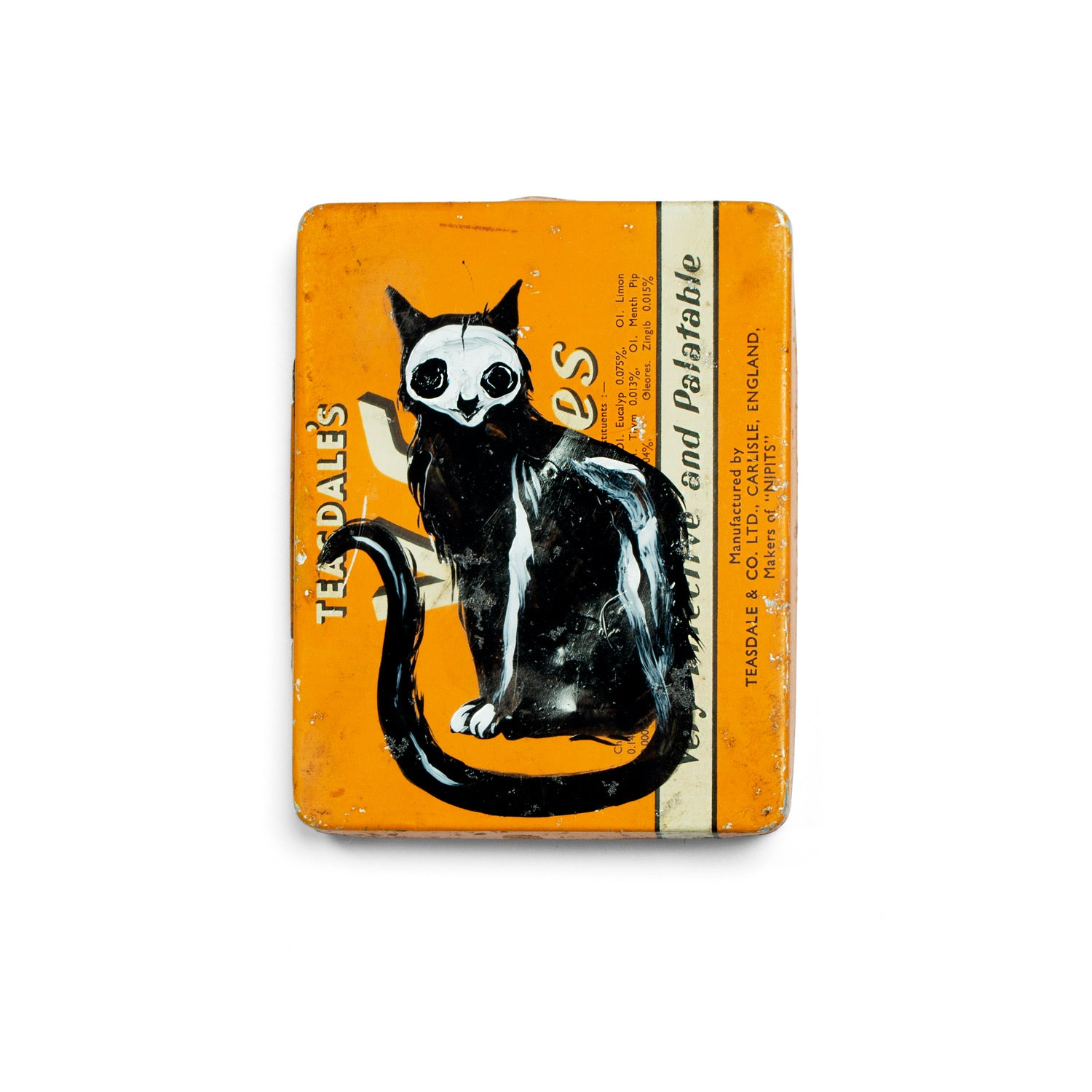 Skelecat keepsake tin