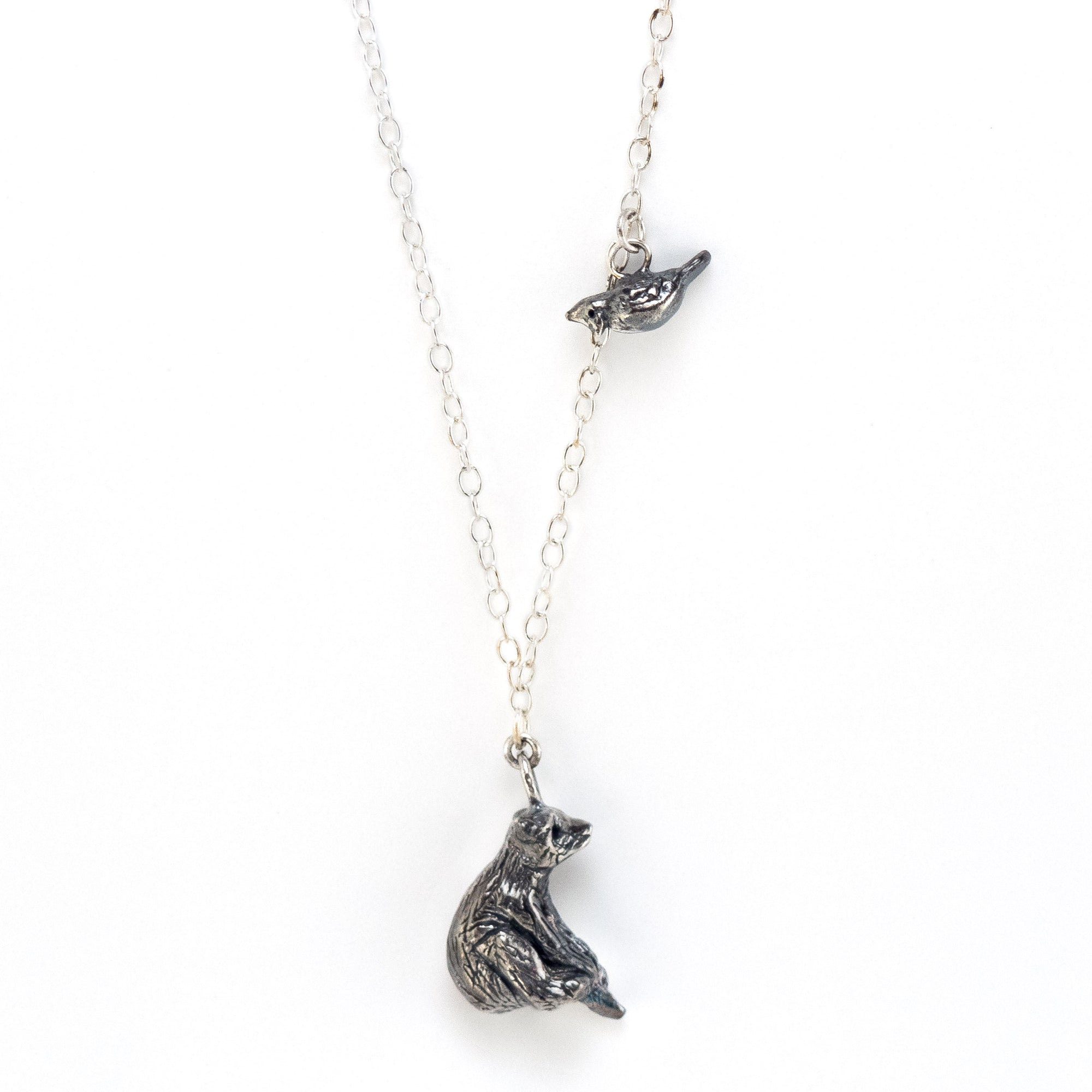 Bear & Cardinal Necklace