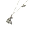Bear & Cardinal Silver Necklace