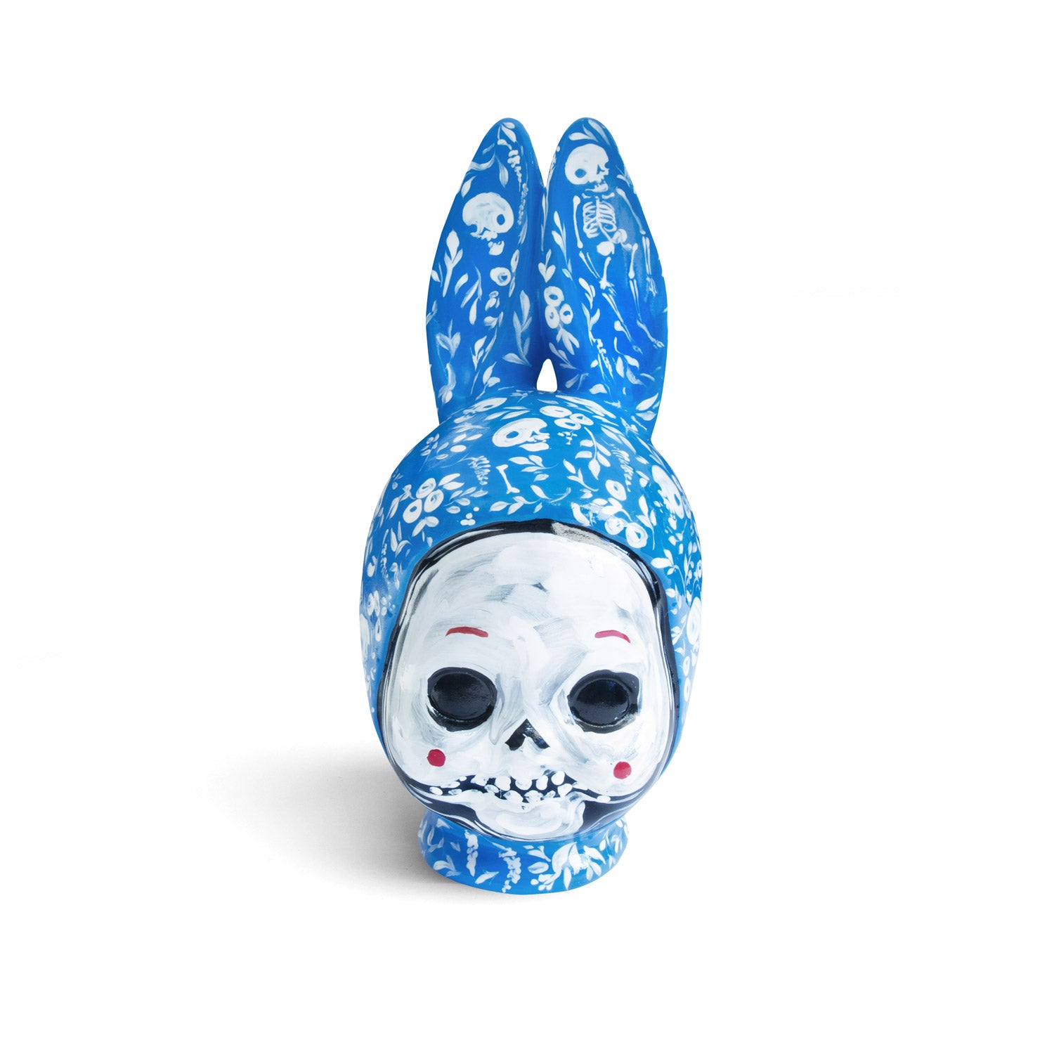 Ceramic kewpie head - blue