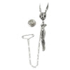 Rabbit-Lady Bobble Head Silver Pin