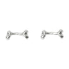 Bone Stud Silver Earrings