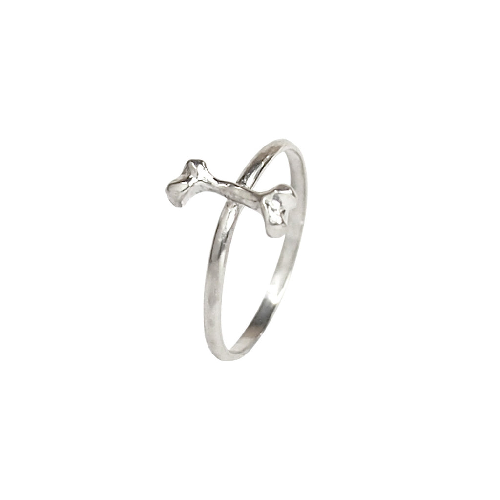 Bone Stacking Silver Ring