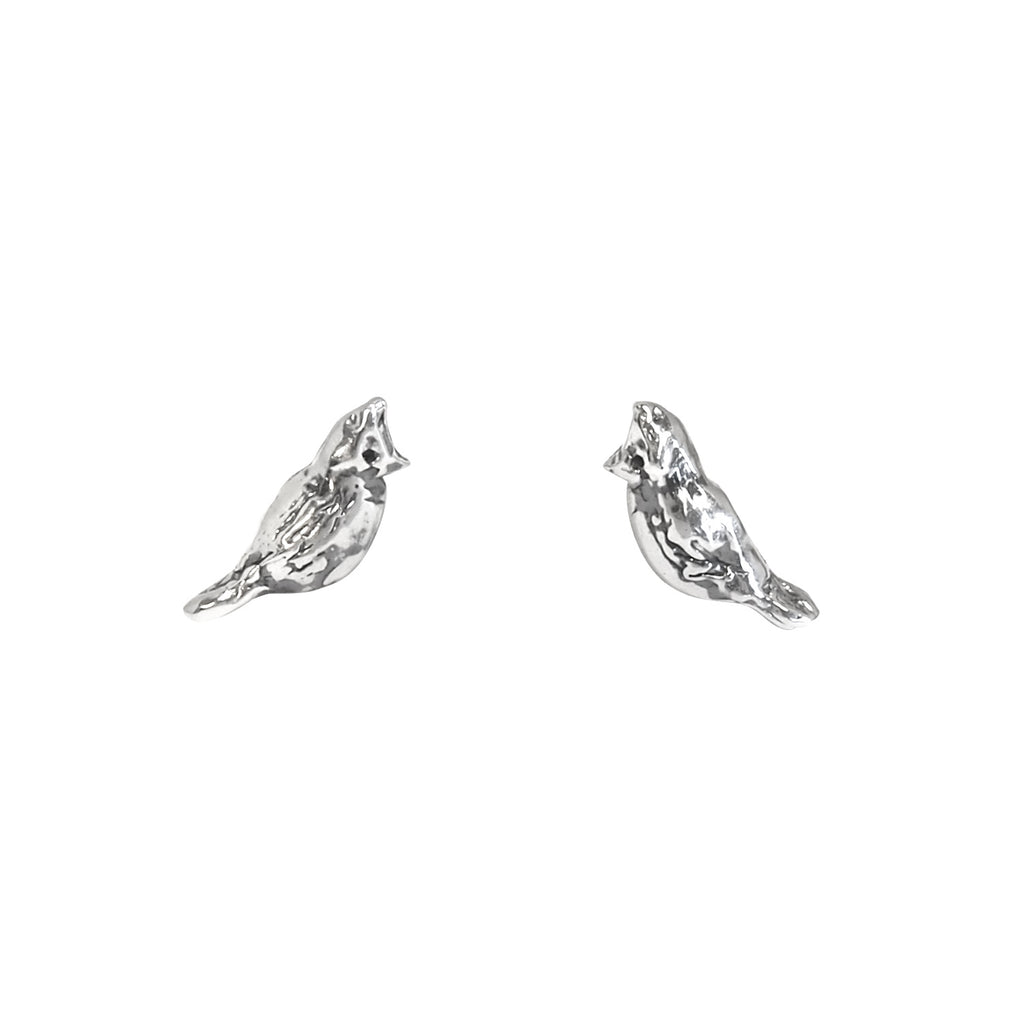 Cardinal Silver Earrings