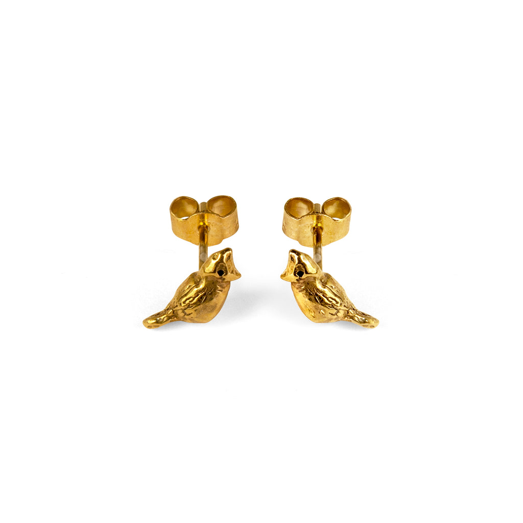 Cardinal Gold Vermeil Earrings