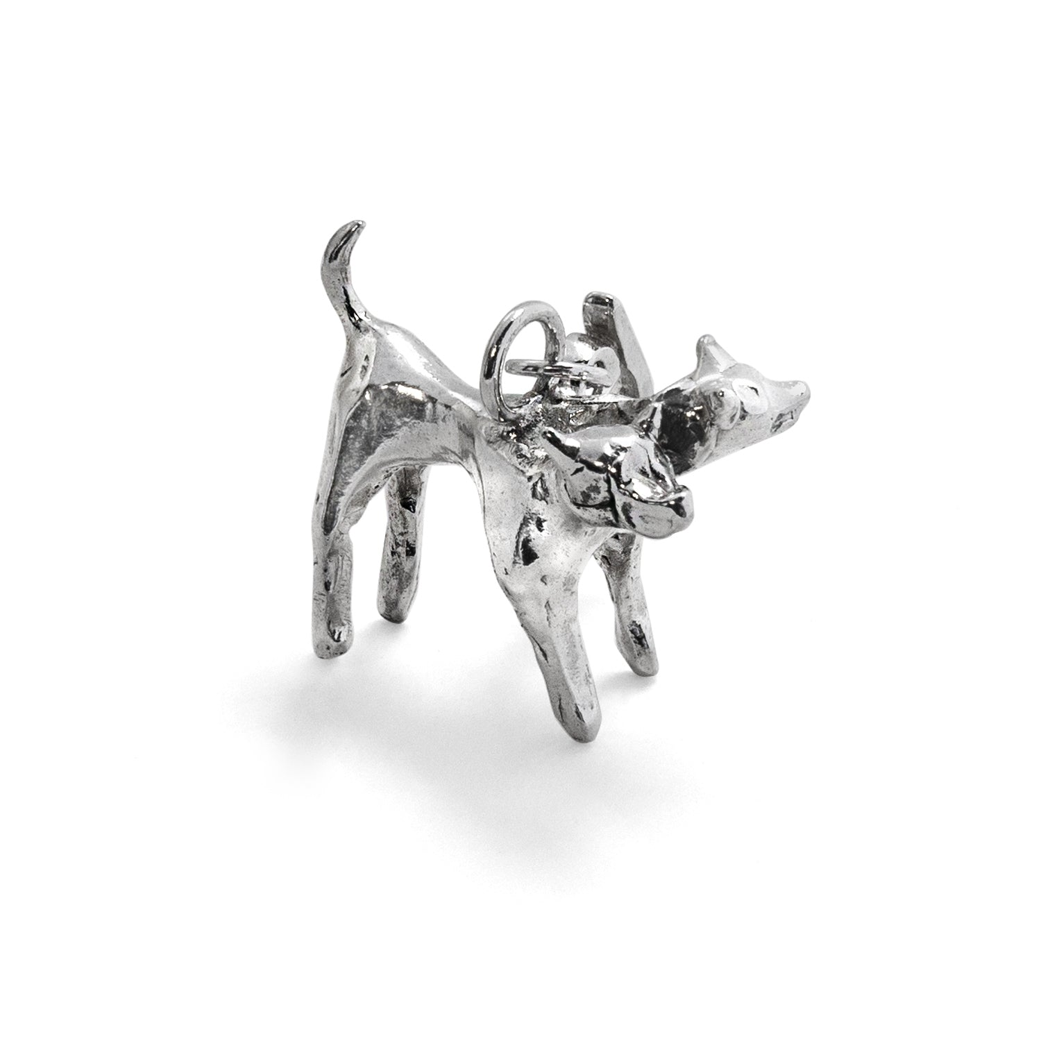 Two-Headed Hound Silver Charm